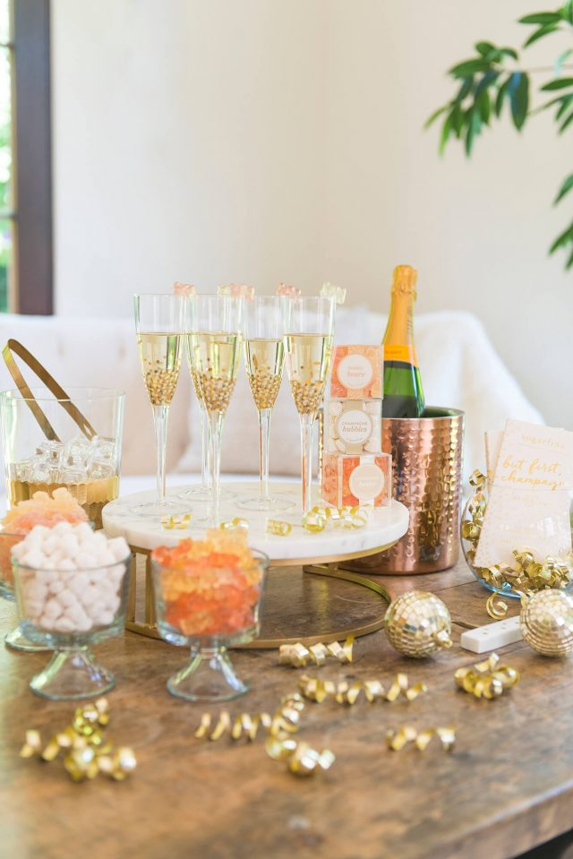 Champagne Glass Table